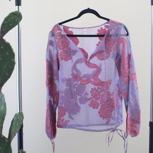 Joie Vintage Embroidered Tunic Exposed Shoulder